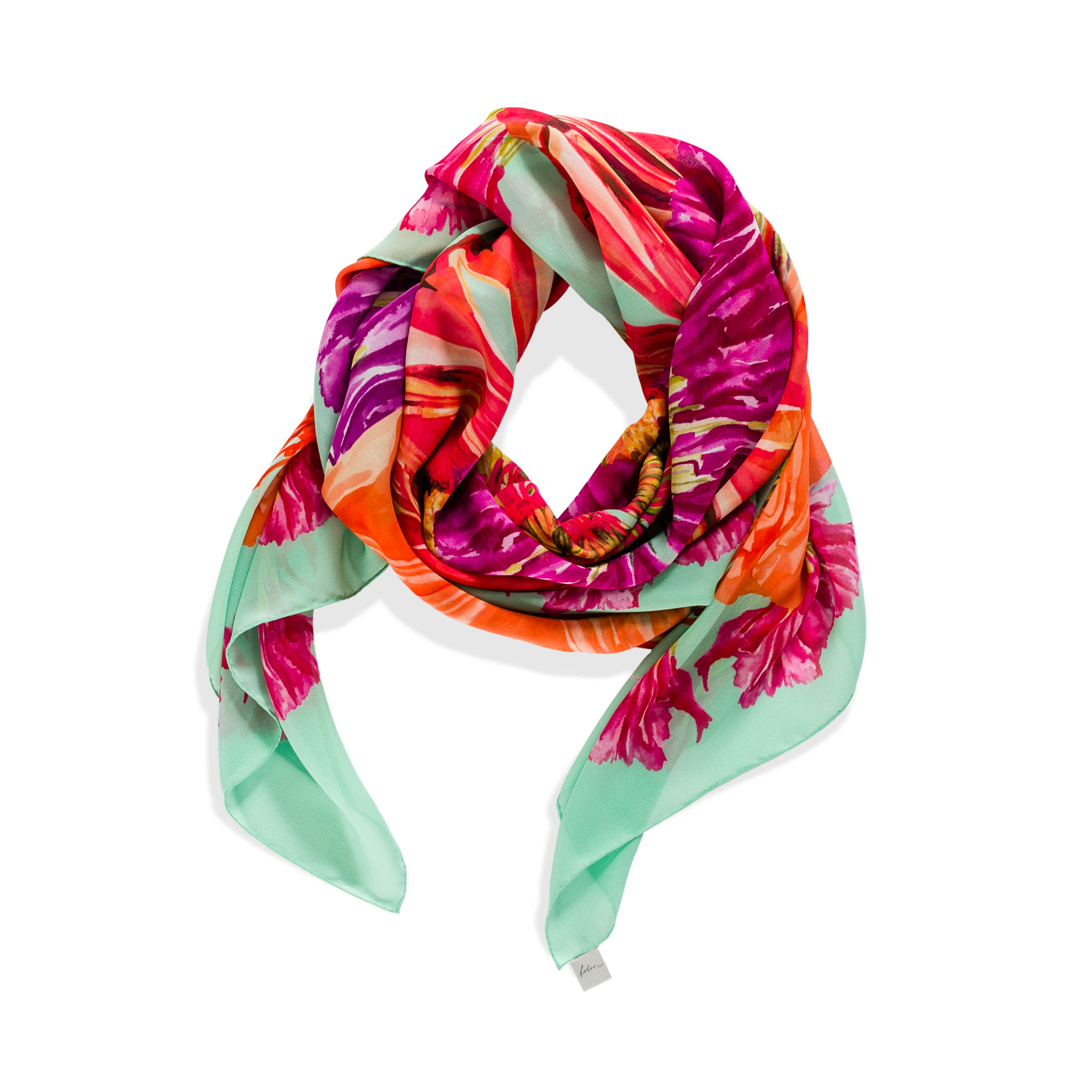 Bouquet Foulard Turchese Silk, Georgette