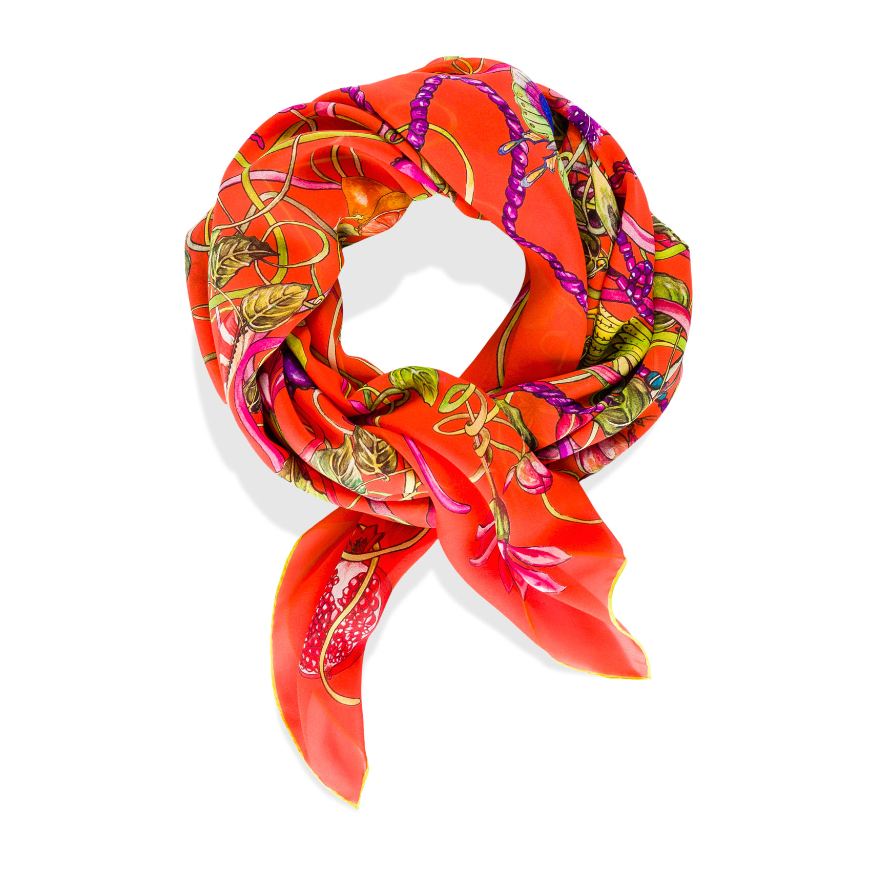 Mother Nature Foulard Salmone Silk, Georgette