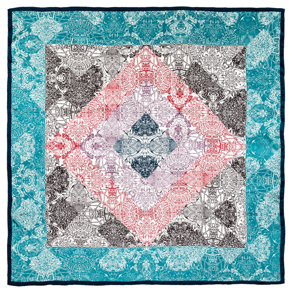 Cities Foulard Aqua Satin