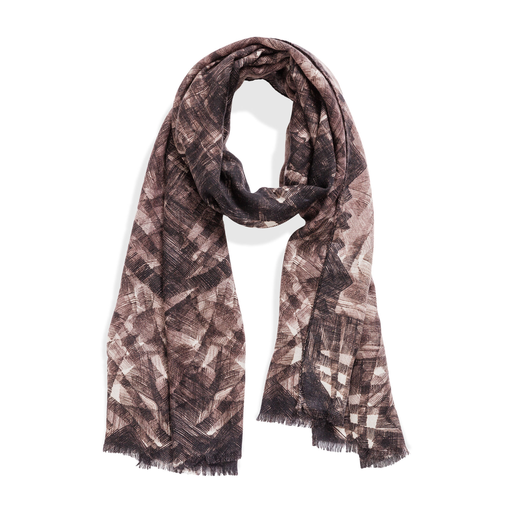 Rice Paper Scarf Grey Cashmere