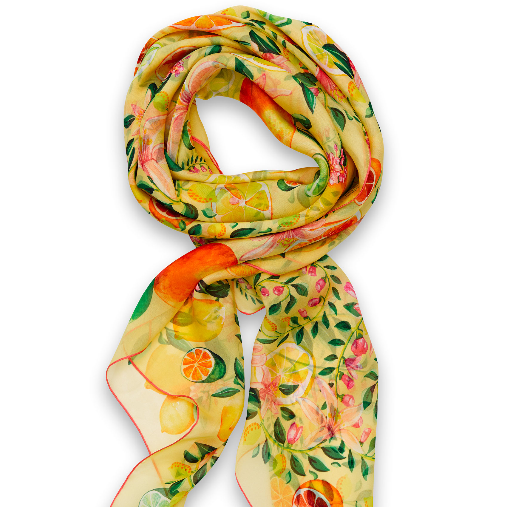 Citrus Foulard Lemon Silk, Mousseline