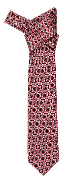Diamante Tie Bordeaux Silk, Jacquard