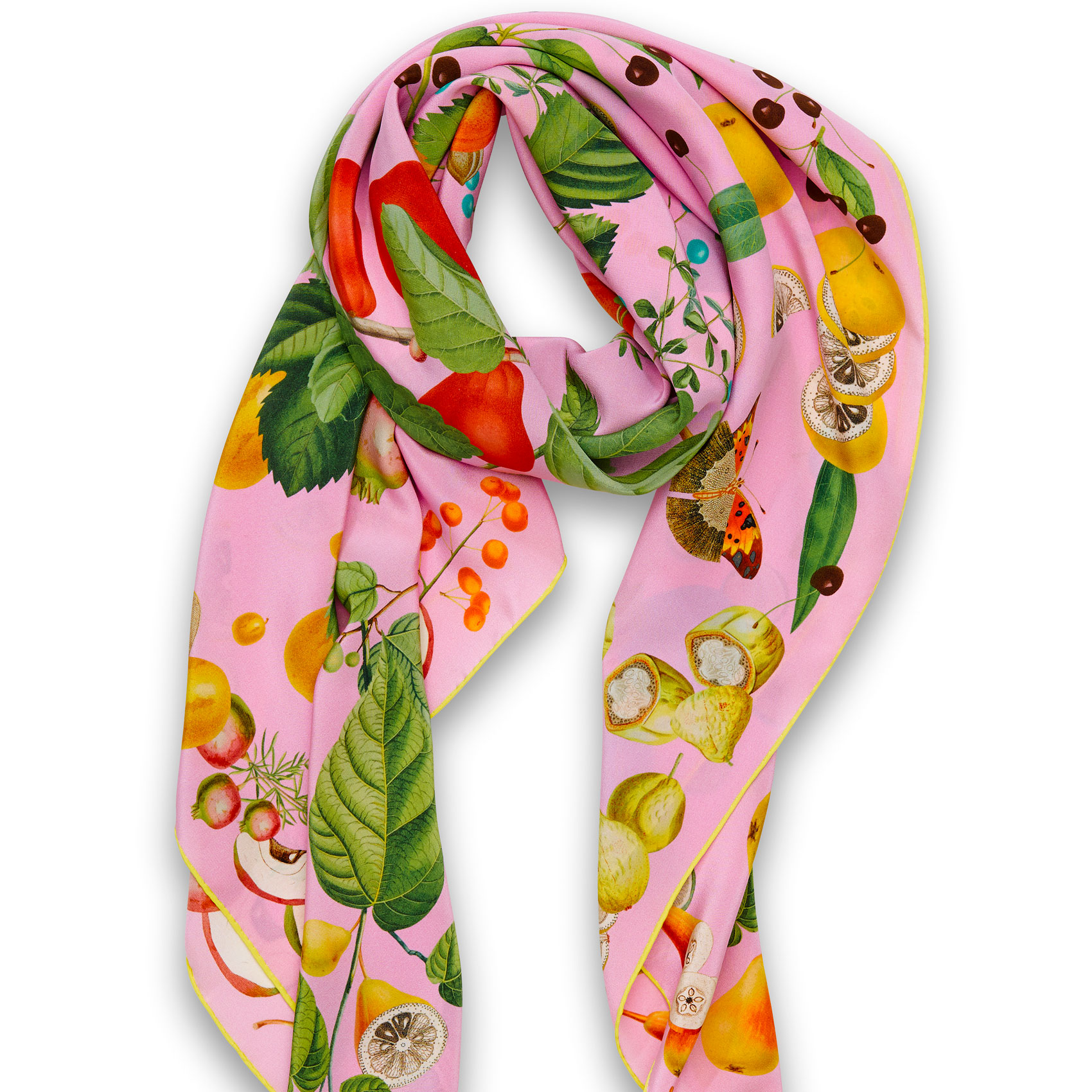 Taditional Cut Foulard Pink Seidencrêpe