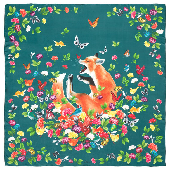 Fox Foulard Acqua Silk Georgette