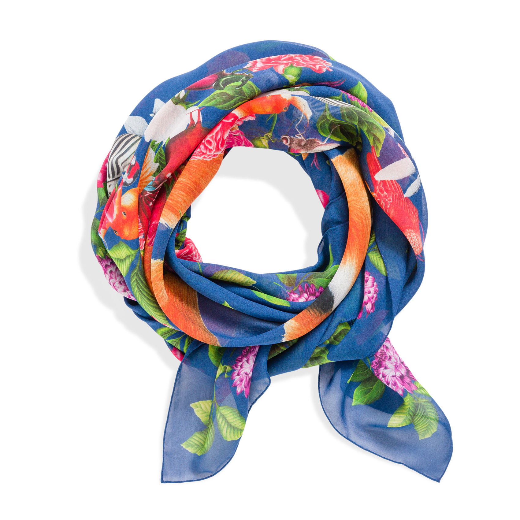 Fox Foulard Pacifico Silk Georgette