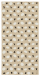 Pudel & Oval Schal beige Georgette