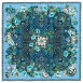 Secret Garden Foulard Blu Silk Crêpe de Chine