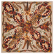 Autumn Braids Foulard Ruggine, Kaschmir/Seide