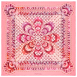 Gourmande Foulard Rose 100% Silk, Mousseline