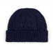 Cable-knit hat, Nero Navy